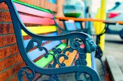 五颜六色的长凳 图库摄影