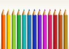 五颜六色的长的铅笔 免版税库存照片