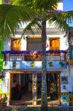 五颜六色的门面在Guatape 库存照片