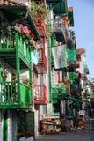 五颜六色的门面在Hondarribia 免版税图库摄影