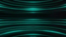 五颜六色的闪烁和弯曲的绿松石线的抽象动画 抽象背景 向量例证