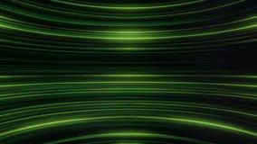 五颜六色的闪烁和弯曲的绿线的抽象动画 抽象背景 库存例证