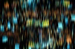 五颜六色的闪烁的亮光电灯泡光backg抽象defocus  图库摄影