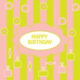 五颜六色的问候生日快乐 库存图片