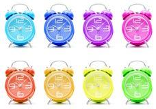 五颜六色的闹钟 库存图片