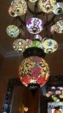 五颜六色的阿拉伯样式灯 库存图片