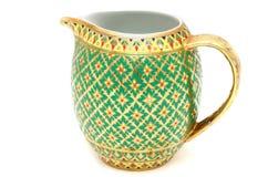 五颜六色的陶瓷器皿 库存图片