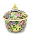 五颜六色的陶瓷器皿 免版税库存照片