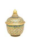 五颜六色的陶瓷器皿 免版税库存图片