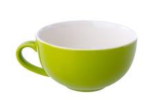 五颜六色的陶瓷杯子 库存照片