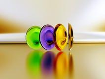 五颜六色的隐形眼镜 图库摄影