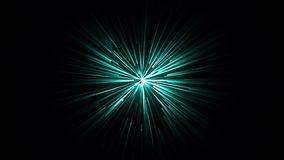 五颜六色的隧道的抽象动画有蓝色轻的条纹的在黑背景 抽象行动背景 向量例证