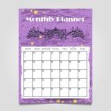 五颜六色的难看的东西月度计划者模板设计 免版税库存图片