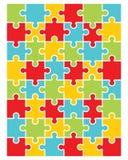 五颜六色的难题的例证 图库摄影