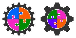 五颜六色的难题链轮的传染媒介例证 库存照片