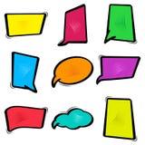 五颜六色的集合对话框,横幅集合 漫画空的泡影 ?? 库存例证
