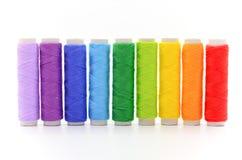 五颜六色的集短管轴线程数 免版税库存照片