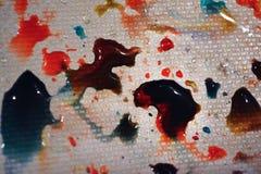 五颜六色的雨 库存照片