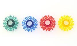 五颜六色的雪花玩具 免版税库存照片