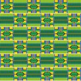 五颜六色的非洲印刷品 布料kente 无缝的模式 向量例证