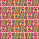 五颜六色的非洲印刷品 布料kente 无缝的模式 皇族释放例证