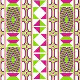 五颜六色的非洲印刷品 布料kente 无缝的模式 库存例证