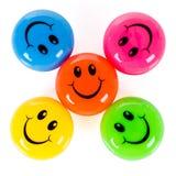 五颜六色的面带笑容 免版税库存照片