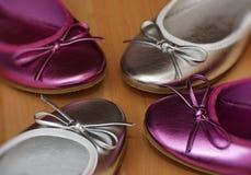 五颜六色的鞋子 免版税库存照片