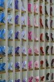 五颜六色的鞋子 免版税图库摄影
