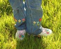 五颜六色的鞋子 库存图片