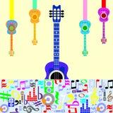 五颜六色的音乐会 库存图片