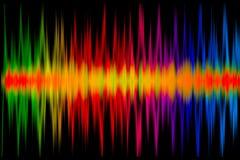 五颜六色的音乐图表 库存照片