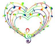 五颜六色的音乐的心脏 向量例证