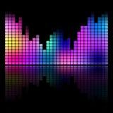 五颜六色的音乐调平器声波被隔绝的传染媒介 免版税库存照片