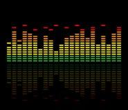 五颜六色的音乐调平器 也corel凹道例证向量 库存例证