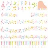 五颜六色的音乐附注 库存图片