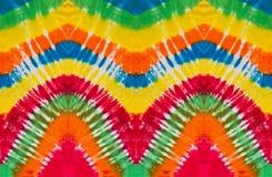 五颜六色的领带染料漩涡螺旋设计样式 免版税库存图片