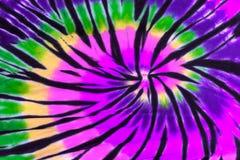 五颜六色的领带染料漩涡螺旋设计样式 库存图片