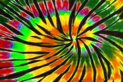 五颜六色的领带染料漩涡螺旋设计样式 图库摄影