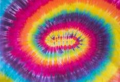 五颜六色的领带染料螺旋样式设计 免版税库存照片