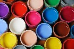 五颜六色的颜料 免版税库存照片