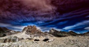 五颜六色的风景全景  免版税库存图片