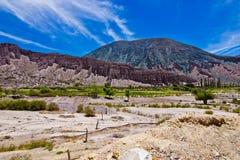 五颜六色的风景在南美洲 免版税图库摄影