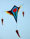 五颜六色的风筝 免版税库存图片