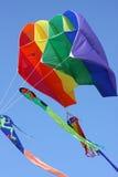 五颜六色的风筝parasail 库存照片