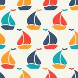 五颜六色的风船形状的无缝的样式 向量例证