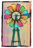五颜六色的风车 图库摄影