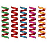 五颜六色的飘带 狂欢节党蛇纹石装饰 皇族释放例证