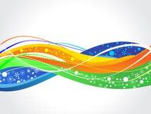五颜六色的飞溅设计传染媒介例证 图库摄影