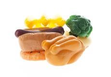 五颜六色的食物塑料 免版税库存照片